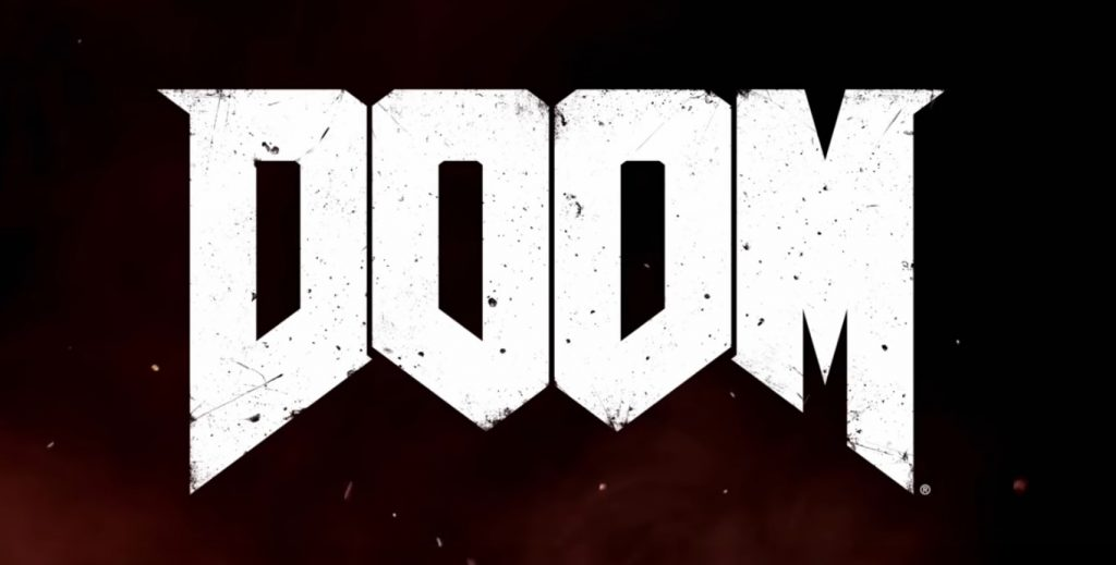 DOOM 2016 logo - the latest version of the game