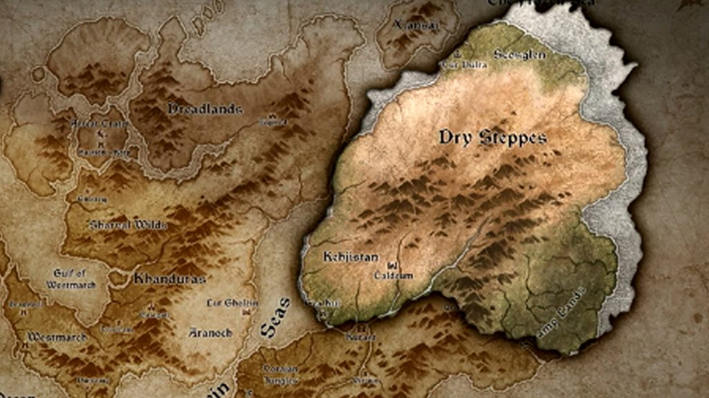 Diablo IV map of the world