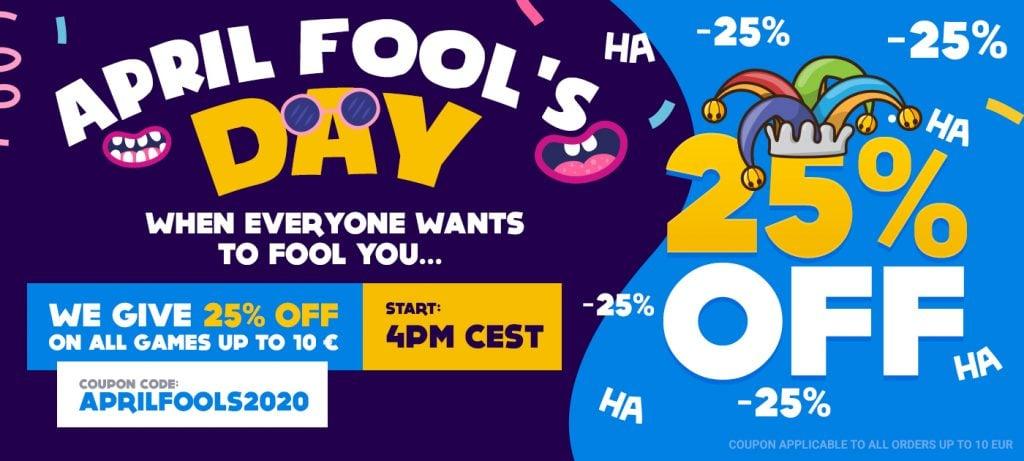 April Fool's Day logo by gamivo
