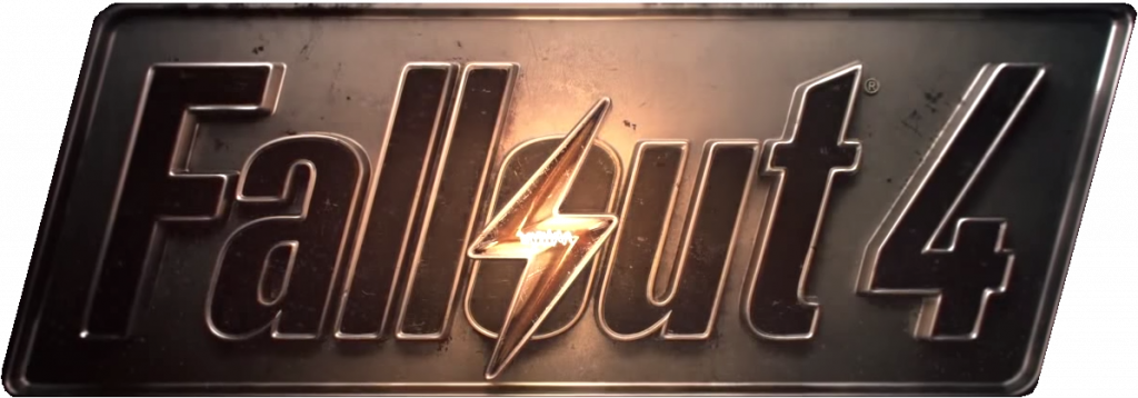 """Fallout 4 logo with a lightning bulb inside """"O"""" - perfect FPSfor less than 5 euro"""