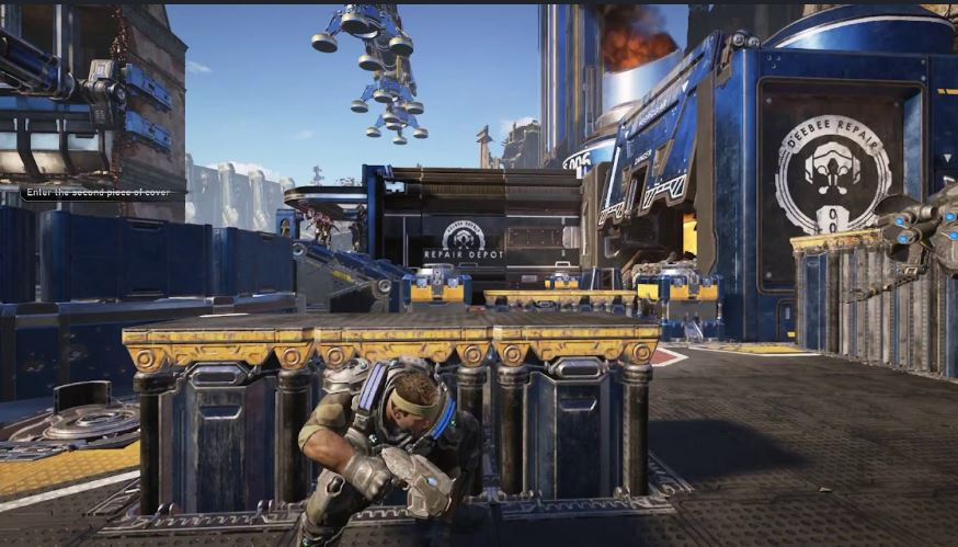 Gears 5 taking cover