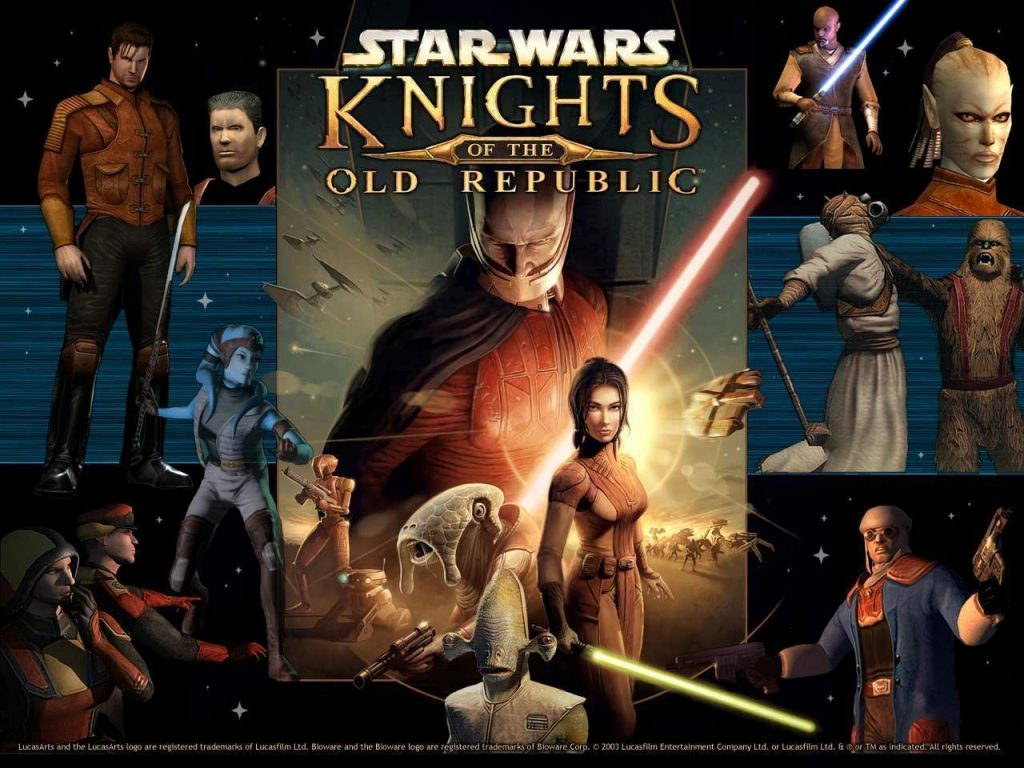 Knights of The Old Republic wallpapper with all characteristic NPCs