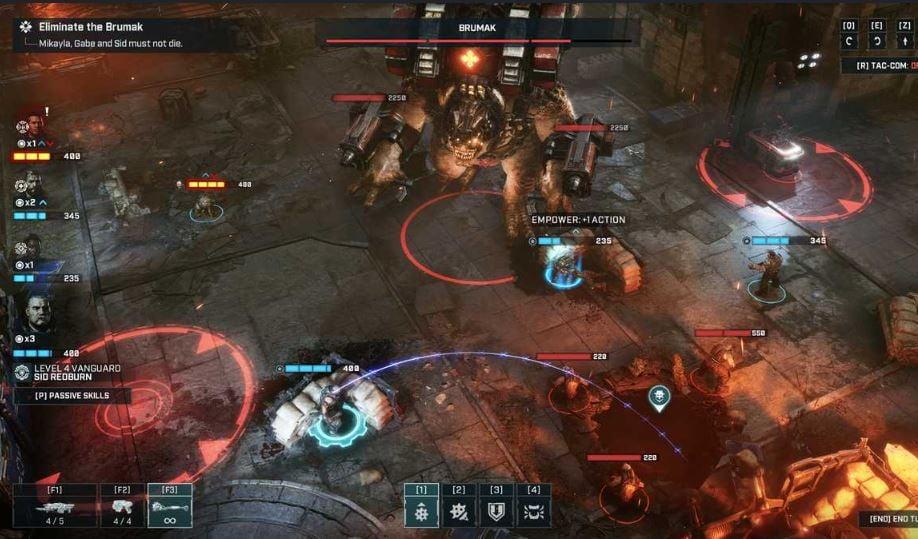 Boss fight Gears Tactics