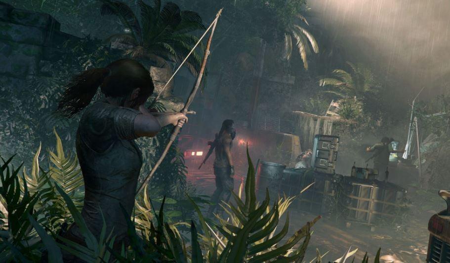 Lara Croft with bow and arrow