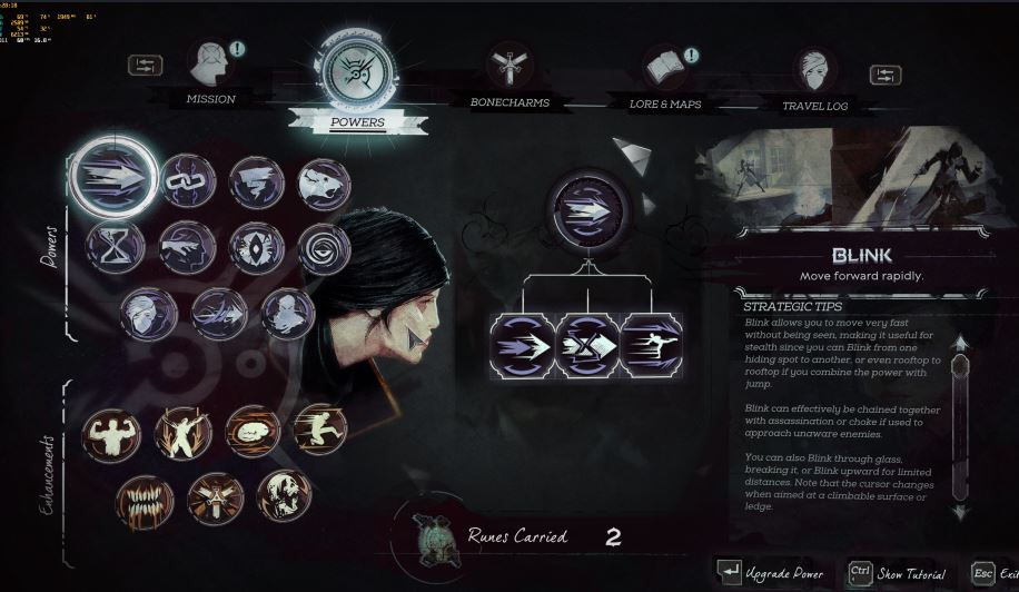 dishonored skills and abilities