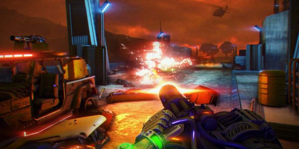 Captain Laserhawk: A Blood Dragon Remix  is an anime based on Far Cry 3: Blood Dragon